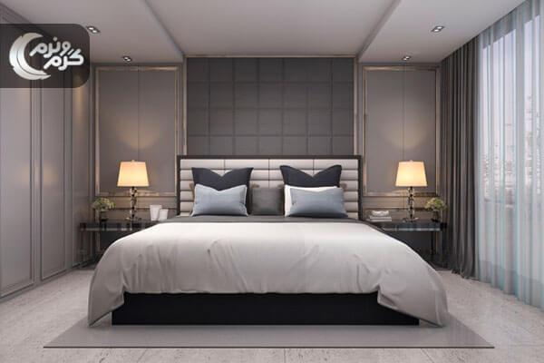 دکوراسیون اتاق خواب با نورپردازی حرفه ای