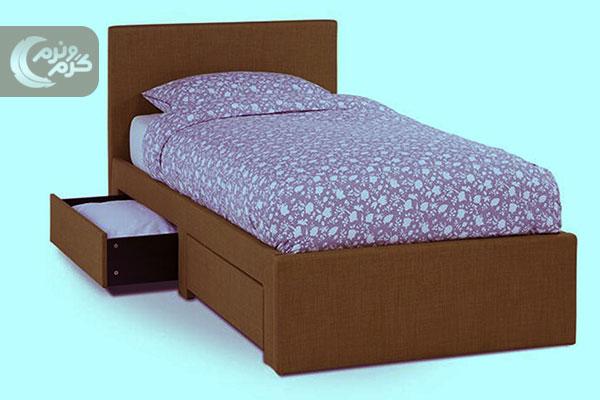 قیمت تخت خواب یک نفره کشودار در خرید اینترنتی